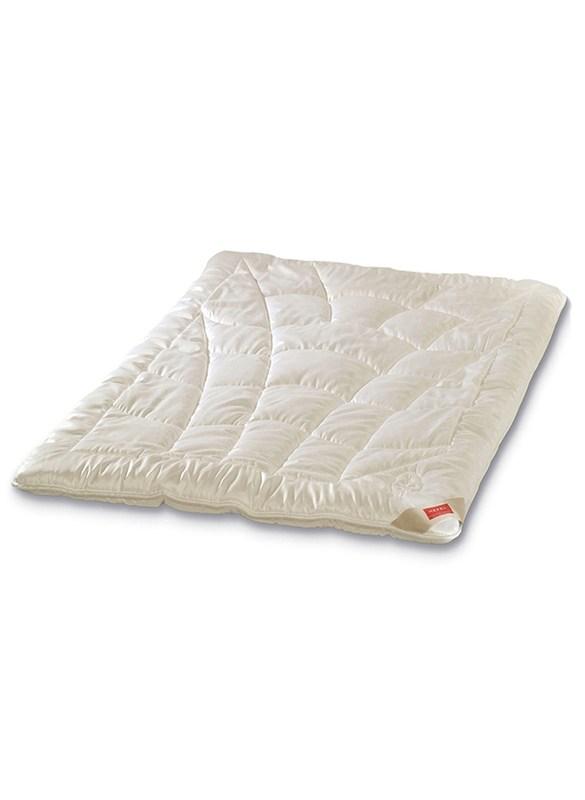 Perfekte Kontrolle des Schlafklima mit der KlimaControl Decke von Hefel mit der atmungskativen TENCEL™ Lyocell Holzfaser.