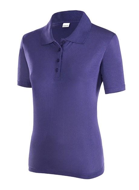 ODEM Damen Polo kurzarm violett TENCEL™ Lyocell Holzfaser