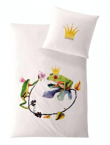 Weiche seidige elegante Luxus Fussenegger TENCEL® Lyocell Bettwäsche Froschkönig Kinder