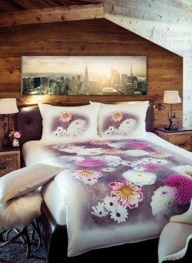 Weiche seidige elegante Luxus Fussenegger TENCEL® Lyocell Bettwäsche PinkDhalia_Image