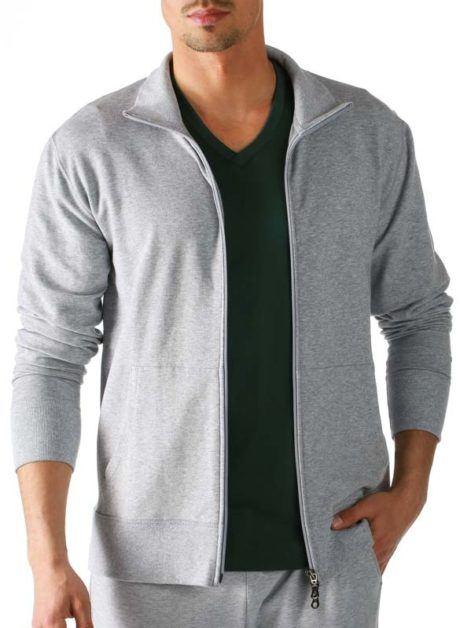 Model wearing MEY Club TENCEL Sweat Jacket for Men