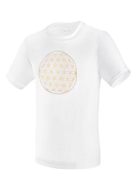 SENSISKIN U-Shirt Blume des Lebens weiß