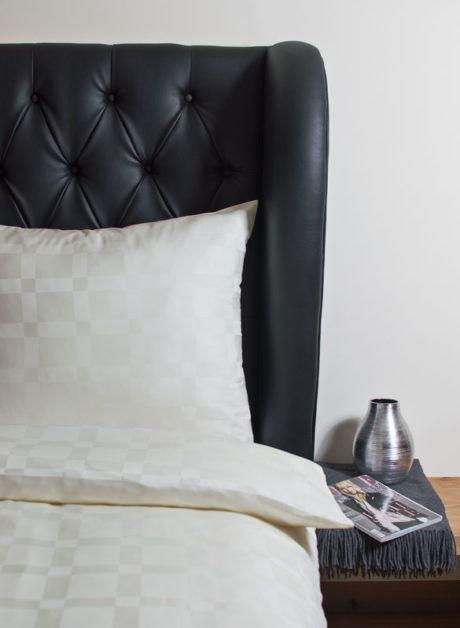 Weiche seidige elegante Luxus Hefel TENCEL® Lyocell Bettgarnitur Deckenbezug Kissenbezug Muster Bettwäsche Karo gross