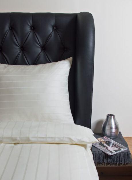 Weiche seidige elegante Luxus Hefel TENCEL® Lyocell Bettwäsche Bettgarnitur Kissenbezug Muster Streifen
