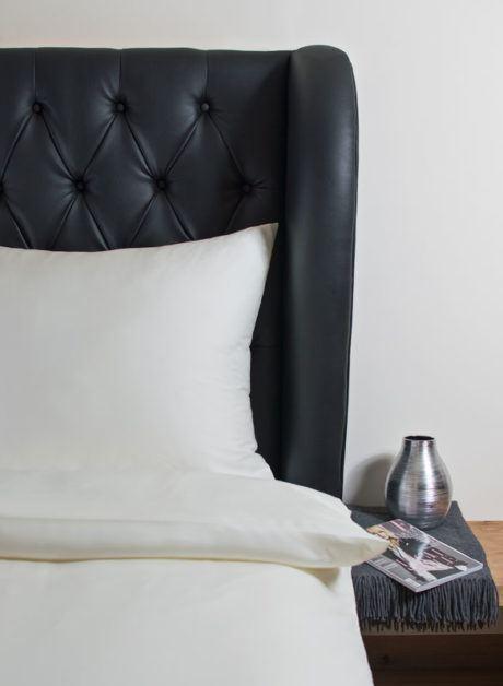 Weiche seidige elegante Luxus Hefel TENCEL® Lyocell Bettwäsche Tuchent Kissenbezug Micro Uni champagner
