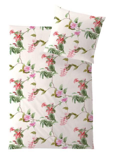 Weiche seidige elegante Luxus Hefel TENCEL® Lyocell Bettwäsche Micro Bettgarnitur Florence Blumen Motiv