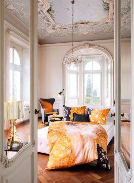 Weiche seidige elegante Luxus Fussenegger TENCEL® Lyocell Bettwäsche Micro Kiss Gustav Klimt Motiiv