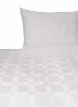 Weiche seidige elegante Luxus Hefel TENCEL Lyocell Bettgarnitur Deckenbezug Kissenbezug Muster Bettwäsche Karo gross