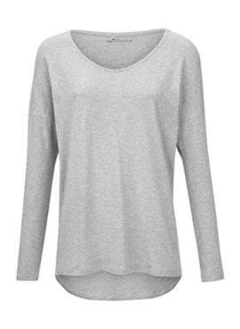 MEY Clara Homewear Shirt hellgrau-melange mit MicroModal®