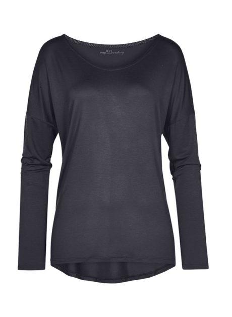 MEY Clara Homewear Shirt black-diamond mit MicroModal®