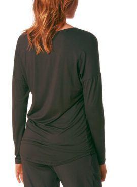 MEY Clara Homewear Shirt black-diamond mit MicroModal® Rückenansicht