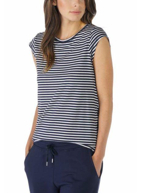 MEY Night2day Shirt Capsleeve Damen aus LENZING™ Modal / Baumwoll Mix vorne