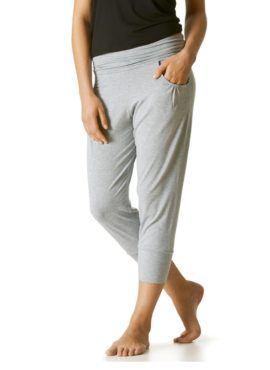 MEY Yogahose light grey melange aus LENZING™ Modal vorne