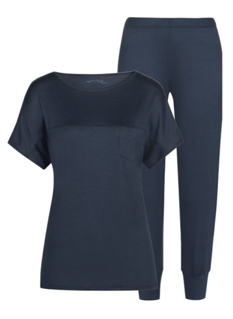MEY Selina night blue Schlafanzug 7/8 MicroModal® 13933-408