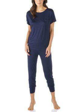 MEY Selina night blue Schlafanzug 7/8 MicroModal® 13933-408 vorne
