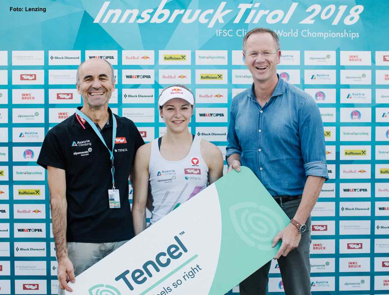 Kletter Weltmeister mit TENCEL Lyocell