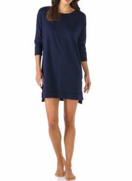Feminines Bigshirt aus der neuen Serie Night2Day Lange Ärmel und aufgesetzte Brusttasche Farbton: Night Blue Klassischer Rundhalsausschnitt Baumwolle-Modal-Elastan-Mix sorgt Für hohen Tragekomfort vorne