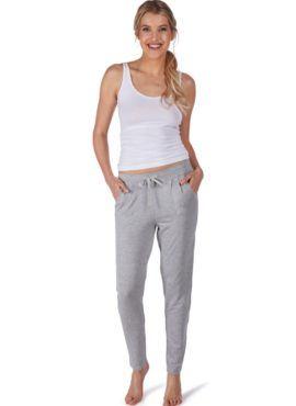 Huber 24 hours women lounge shirt grau-melè 97% Modal, 3% Elasthan