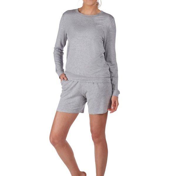 Huber 24 hours women lounge shirt grau-melè 97% Modal, 3% Elasthan cce6182660