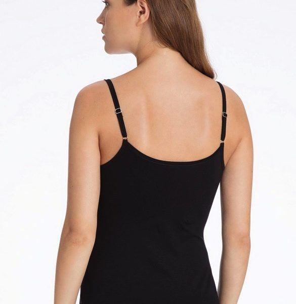 451a929944d61c ... schwarz vorne · Calida Spathetti-Top aus TENCEL Lyocell Baumwolle  schwarz hinten ...