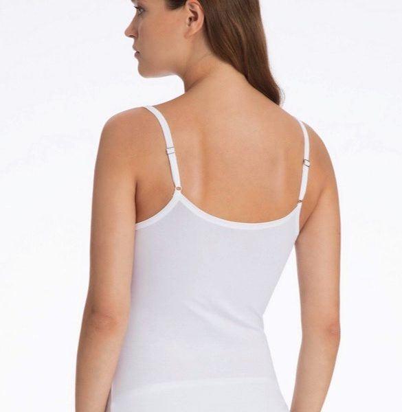 96a532420a020a ... vorne · Calida Spathetti-Top aus TENCEL Lyocell Baumwolle weiß hinten