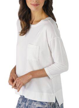 MEY Night2Day Shirt 3/4 Ärmel Damen Modal Baumwoll Mischung secco Front