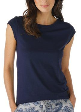 MEY Night2Day Capsule Top Damen Modal Baumwoll Mischung night blue Front