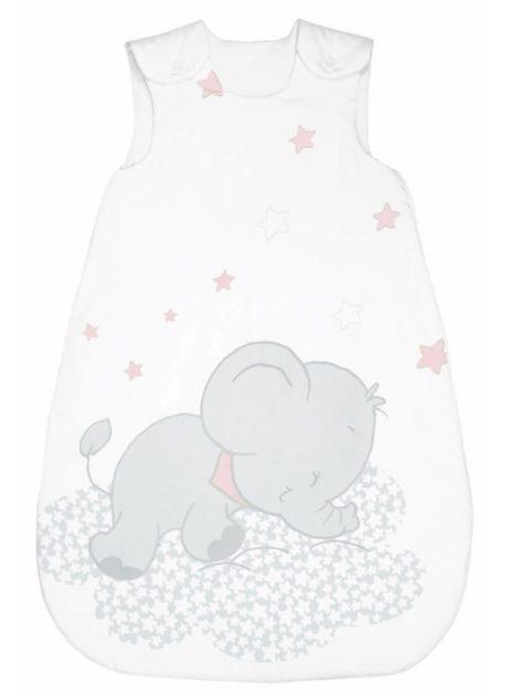 Lunafant grau-rosa Bebella Vital Baby Schlafsack TENCEL™ / Lyocell