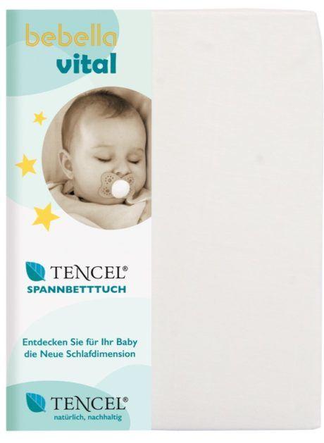 Baby Spannbetttuch Bebella Vital TENCEL™ Lyocell weiß